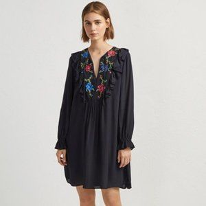 NWT French Connection  ELISHIA EMBROIDERED DRESS